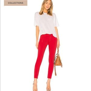 Frame Le High Skinny Jean in Vintage Red sz 24 B0